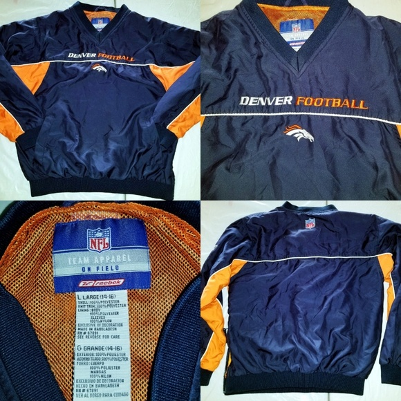 8a9db268 Reebok Shirts & Tops | Nfl Denver Broncos Football Pullover Windbr ...